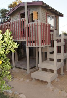 The Go-To Mom Treehouse. My hubby finally finished it! The boys LOVE it! www.TheGoToMom.TV