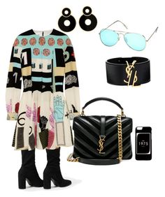 A fashion look from August 2017 featuring valentino dress, pointy toe booties and quilted hand bags. Fashion Sets, Fashion Outfits, Look Girl, Yves Saint Laurent, Valentino, Polyvore, Ideas, Women, Fashion Suits