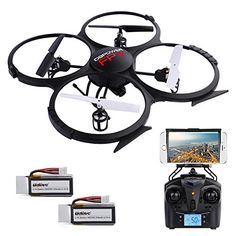 U818A Updated WiFi FPV RC Drone with 2MP HD Camera DBPOWER 2.4Ghz Quadcopter Gravity Induction Headless Mode Low Voltage Alarm 2 Batteries - http://www.midronepro.com/producto/u818a-updated-wifi-fpv-rc-drone-with-2mp-hd-camera-dbpower-2-4ghz-quadcopter-gravity-induction-headless-mode-low-voltage-alarm-2-batteries/
