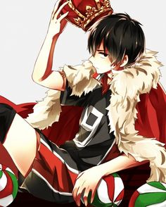Anime, Haikyuu!!, Kageyama Tobio, Volleyball Uniform, Volleyball Ball