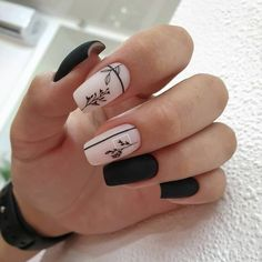 The fall and winter is coming, and the square nails are perfect for matching windbreakers and woolen coats. Glossy nails highlight personality, matte nails are flat and reserved, and with appropriate patterns and decorations, a delicate square manicure is Chic Nails, Stylish Nails, Trendy Nails, Best Acrylic Nails, Acrylic Nail Designs, Pink Nails, My Nails, Matte Nails, Oval Nails