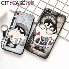 CITYCASE New Japan 3D Cartoon Case For Iphone 7 , Lovely Crayon Shin chan Back Design Cover Mobile 2017 For Iphone7 Plus -in Phone Bags & Cases from Phones & Telecommunications on Aliexpress.com | Alibaba Group