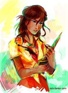 Piper McLean. Daughter of Aphrodite.  -Artist is Viria13.