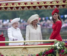 Kate Middleton with Queen Elizabeth and Camilla, Duchess of Cornwall   Queen's Jubilation