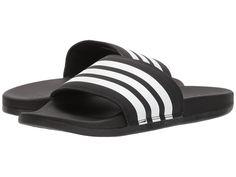 d316e802838fa7 adidas Adilette Cloudfoam Ultra Stripes Women s Slide Shoes Black White  Black