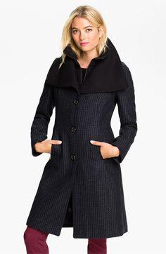 Soia & Kyo Knit Collar Tweed Walking Coat available at #Nordstrom