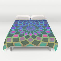 Spiral Stained Glass Duvet Cover by KCavender Designs - $99.00 #Duvet #Cover #Bedding #Bedroom #Decor By #KCavenderDesigns