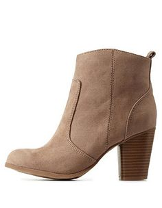 5653e6250 Madden Girl Chunky Heel Ankle Booties  Charlotte Russe