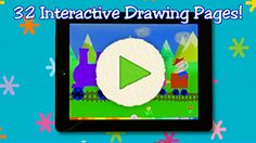 "eTots - Let's Color - Another terrific app from Lazoo that animates your child's coloring.  Choose crayons, paints, chalk or more in a variety of colors and color water coming out of a hose.  Tap the ""GO"" button and your water pours out.  Fun for even the littlest user."