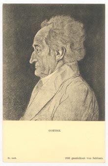 Das Goethezeitportal: Jutta Assel und Georg Jäger: »Goethe-Motive auf Postkarten« - Goethe-Bildnisse