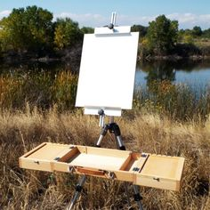 The Guerrilla Painter Campaign Box is a wonderful alternative to the traditional pochade box or French easel. It provides more work space, a large center area for a palette, two storage compartments under the slide out panels, and brush rests. The Campaign Box easily mounts to any standard tripod.