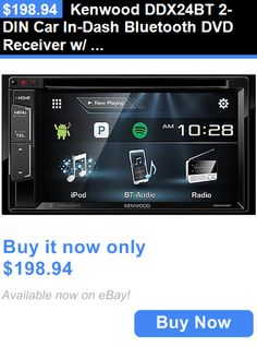 Vehicle Electronics And GPS: Kenwood Ddx24bt 2-Din Car In-Dash Bluetooth Dvd Receiver W/ 6.2 Lcd Touchscreen BUY IT NOW ONLY: $198.94