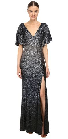 Unforgettable.   Charm the crowd in the breathtaking beauty of the #Marchesa #Notte #Ombre #Sequin #Gown. #dress #apparel #clothing