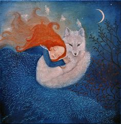 Fine art greeting card guided by moonlight. van LupiArt op Etsy