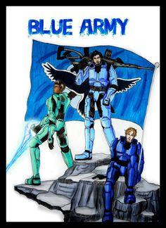 Blue Army by Vampyna