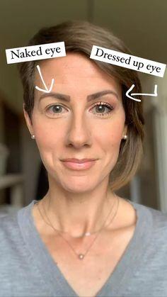 Eyebrow Makeup, Skin Makeup, Makeup Brushes, Beauty Makeup Tips, Hair Beauty, Hooded Eye Makeup Tutorial, Makeup Tips For Older Women, Makeup Tips For Small Eyes, Hair Bun Maker