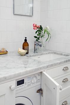 downstairsbathroom downstairs bathroom luxury is part of Bathroom decor - Laundry Room Bathroom, Downstairs Bathroom, Small Bathroom, Compact Bathroom, Bathroom Ideas, Compact Living, Tiny Living, Hidden Laundry, Diy Home Decor For Apartments