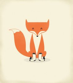 fox with socks