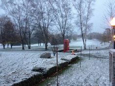 Mackinac Island first snow