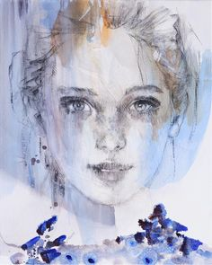 28 Super ideas for fashion model art artists Painting Of Girl, Painting People, Painting & Drawing, Female Portrait, Portrait Art, Watercolor Portraits, Watercolor Art, Mixed Media Faces, Acrylic Painting Lessons