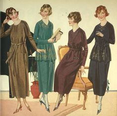 Women's Dresses from a 1920 catalog #vintage #1920s #fashion