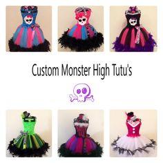 Custom Monster High Tutu. Pick from any of by Ericascustomtutus