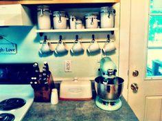 4. Kitchen Shelf with Hooks - Etsy