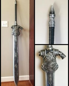 Finished commission on the Greatsword of Artorias! I have more pictures on my… Cosplay Weapons, Cosplay Diy, Dark Souls Greatsword, Great Sword, Vox Machina, Sword Design, Anime Warrior, Fantasy Weapons, Aesthetic Design