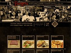 Beautiful website using textures and some cool effects for a pub in Austin.