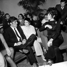 Alain Delon, Zizi Jeanmaire and Juliette Greco, 1970's