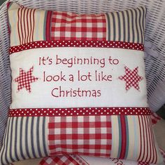 christmas carol cushion by tuppenny house designs | notonthehighstreet.com make a christmas banner of centre panel.