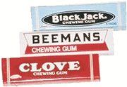 Beeman's Chewing Gum, Clove Chewing Gum, Black Jack Chewing Gum