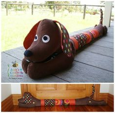 Drafty the Door Sausage Dog designed and made by Jody's Crafty Creations