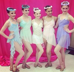 "kendall, kalani, maddie, nia and chloe in ""Amazing Grace"" group dance costumes. Dedicated to Mrs.Miller may she rest in peace <3"