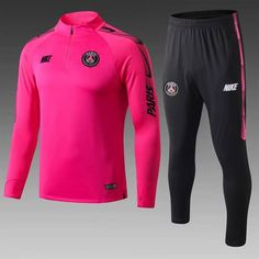 PSG Pink Men Tracksuit Slim Fit Item Specifics Brand: Nike Gender: Men's Adult Model Year: Material: Polyester Type of Brand Logo: Embroidered Type of Team Badge: Embroidered Psg, Arsenal Soccer, Soccer Shirts, Soccer Jerseys, Nike Fleece, Training Tops, Soccer Training, Shopping, Moda Masculina