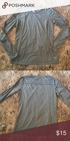 "Gray Danskin workout shirt Heathered gray workout tee. Long sleeves. Dri-more. Crew neck. Length: 24"", bust: 18"", sleeves: 24"". Great condition! Danskin Now Tops Tees - Long Sleeve"