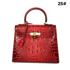 alligator pattern genuine leather