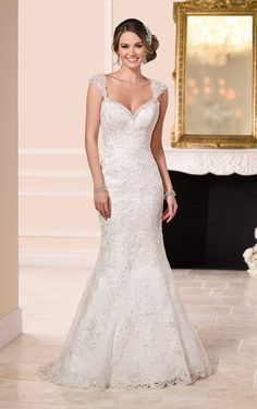 Lace Over Satin Low Back Wedding Dresses | Stella York