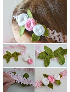 DIY Crochet Baby Headband | DIY Baby Shower Ideas for Girls | Click for Tutorial