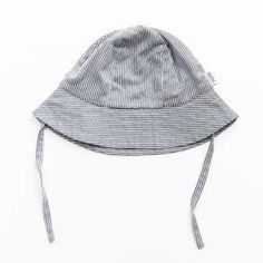 GOTs certified organic Blue and White Stripe Bucket Hat by Okker Gokker Sun Protection, Summer Wardrobe, Bucket Hat, Blue And White, Organic, Hats, Classic, Hat, Classic Books