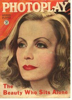Photoplay Greta Garbo on cover December 1934