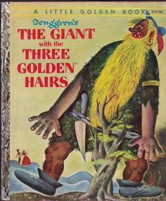 "(Gustaf) ""Tenggren's The Giant with The Three Golden Hairs'' Little Golden Book 