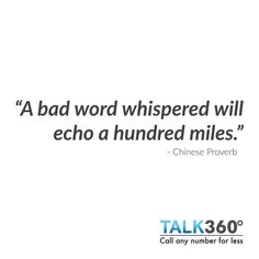 Share your words of wisdom with Talk360.    https://www.talk360.com/social