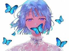 Discharge # here ~~~ # Unmatched # and # votes # to # dynamic # vi … # # random # # # Random # # # # amreading # # # # - Schmetterling Art Anime, Anime Art Girl, Girl Blue Hair, Anime Butterfly, Manga Drawing Tutorials, Blue Anime, Beautiful Anime Girl, Kawaii Anime Girl, Kawaii Art