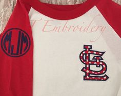Hey, I found this really awesome Etsy listing at https://www.etsy.com/listing/232685133/st-louis-cardinals-raglan-baseball-shirt