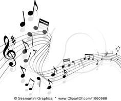 musical clipart free   -Free Vector Clip Art Illustration of a Background Of Staff And Music ...