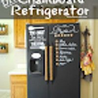 Create your own chalkboard refrigerator! Perfect for organizing your grocery list and weekly meal planning. It also makes a great canvas for the kiddos.