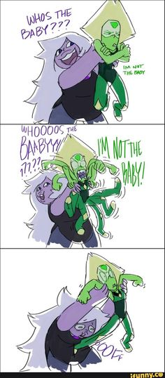 "Lmao it would have been cute if Peridot said ""I'm your baby~"" But poor Amethyst tho.."
