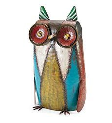 colorful-metal-owl