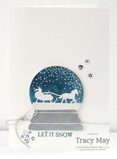 Stampin' Up! Sleigh Rides Edgelits & Sparkly Seasons by Tracy May